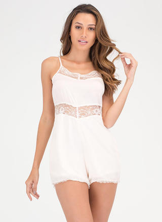 Romantic Idea Lace Romper