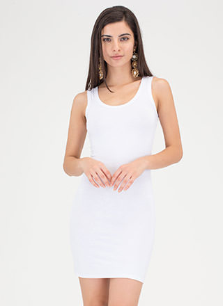 Plain And Simple Basic Tank Minidress