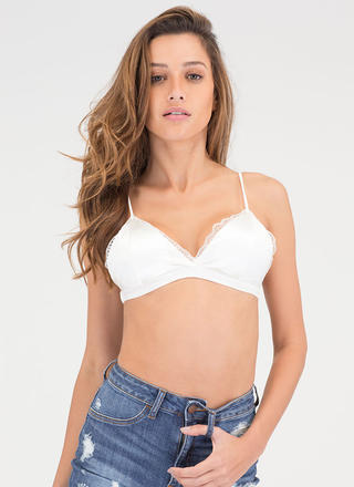 Sleek Seduction Satin 'N Lace Bralette