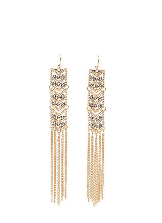Art Deco Treasure Fringed Earrings