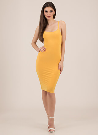 Lasting Impression Cami Midi Dress