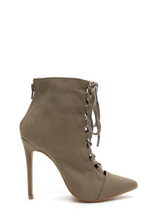 Night Out Chic Lace-Up Booties