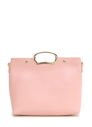 Day To Day Sleek Faux Leather Bag