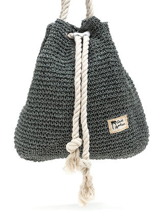 Nautical Charm Woven Straw Backpack