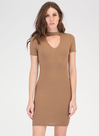 I Could Use Some Collar Rib Knit Dress