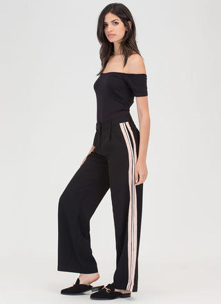 Stripe For The Picking Palazzo Pants