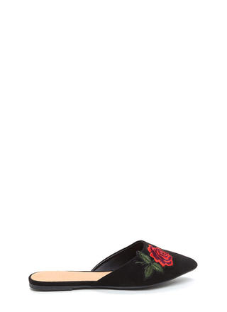 Rose To Fame Pointy Mule Flats