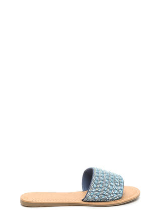 Bedazzled Beauty Jeweled Slide Sandals