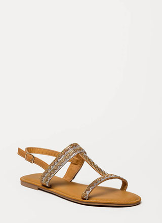 Light My World Glitzy Strappy Sandals