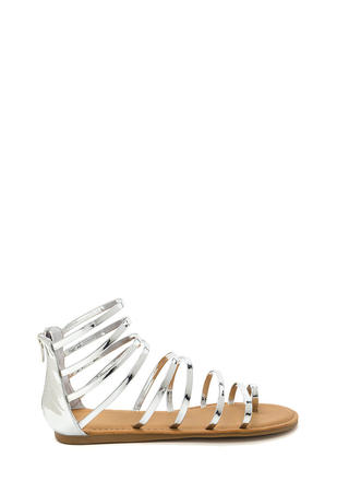 Radiant Style Caged Gladiator Sandals