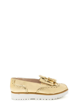 Wildest Gleam Metallic Platform Loafers