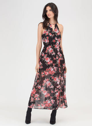 Naturally Charming Sheer Maxi Dress