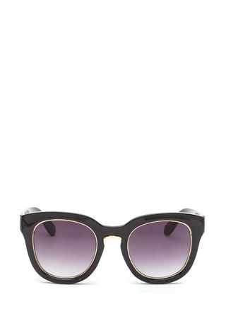 Living It Up Metallic Trim Sunglasses