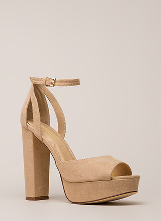 Hi Gorgeous Pointy Faux Suede Heels