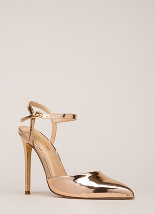 Big Night Out Pointy Metallic Heels