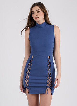 Tie Another Day Double-Slit Minidress