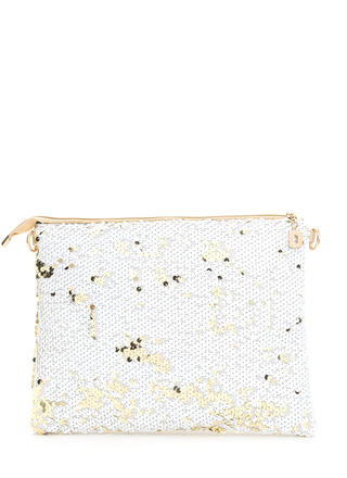 Sequin Fireworks Large Shiny Clutch