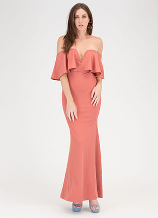 Fancy Me Off-Shoulder Mermaid Maxi