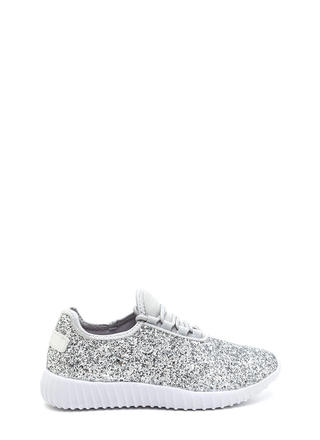 All Glitz Lace-Up Metallic Sneakers