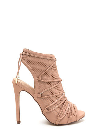 Hole Thing Faux Nubuck Lace-Up Heels
