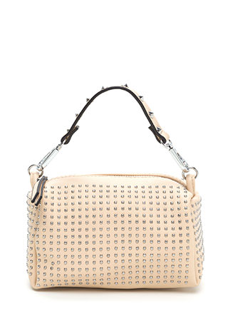 Stud-y Buddy Faux Leather Mini Bag
