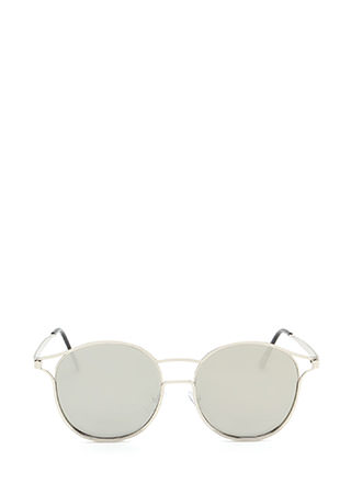 Make The Cut-Out Round Sunglasses