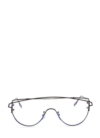 Style Radar Brow Bar Shield Glasses