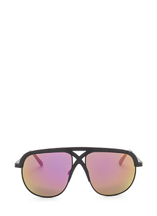 X Appeal Mirrored Oversized Sunglasses