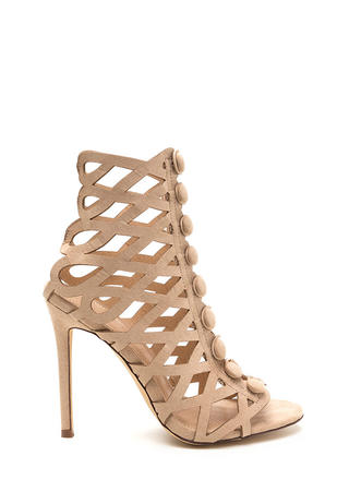 Chic Influencer Cut-Out Caged Heels