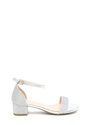 Glitz The Best Metallic Block Heels