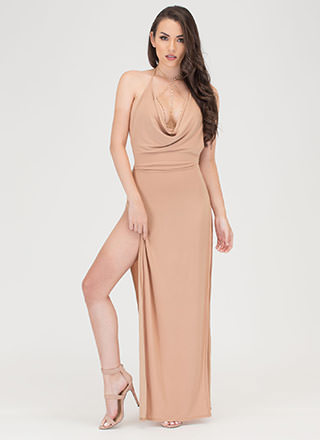 Sleek Finish Double Slit Maxi Dress