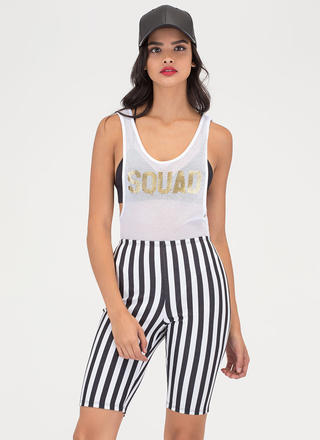 Front Of The Line Striped Shorts