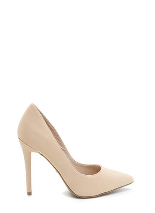 City Sleek Pointy Faux Nubuck Heels