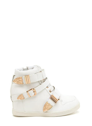 Off Duty Uniform Strappy Sneaker Wedges