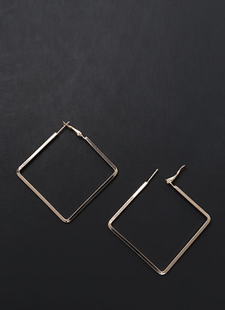 Square Deal Skinny Minimal Earrings