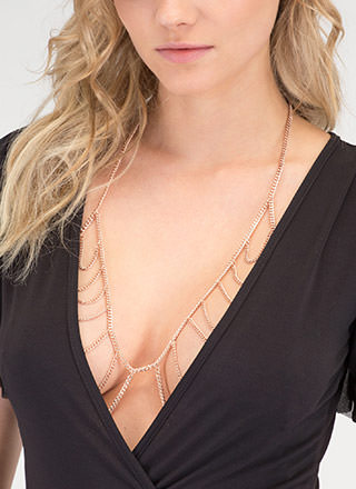 Stripe Right Bralette Bodychain