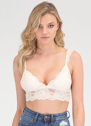 Lace The Music Cropped Bralette