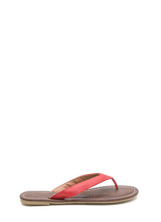 Scale It Back Faux Leather Thong Sandals
