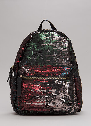 Pursue Your Gleams Sequined Backpack