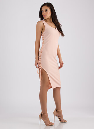 Winning Tie Textured Midi Dress