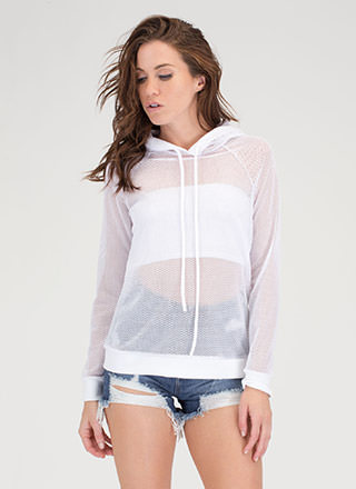 Just For Sport Netted Mesh Hoodie