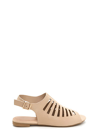 Top Of The Line Cut-Out Caged Sandals