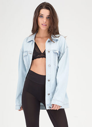 Jean-ius Solution Distressed Jean Jacket