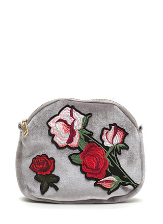Floral Aspirations Velvet Crossbody Bag