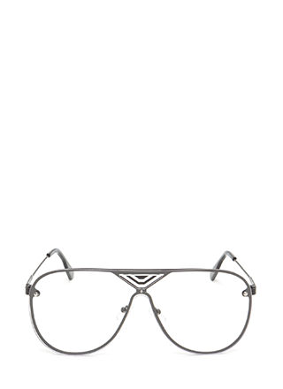 Let's Make It Clear Aviator Glasses