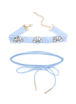 Way Two Cool Jeweled Choker Duo