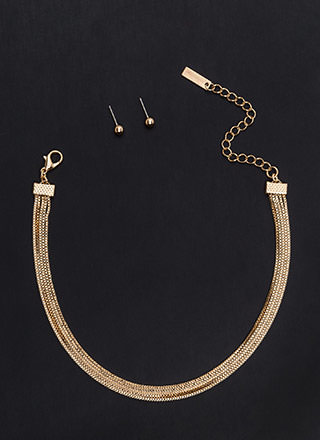 Yank Your Chain Layered Choker Set