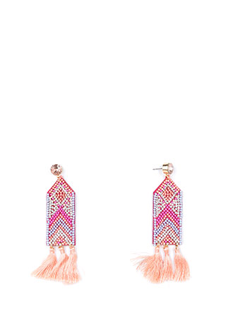 Join My Tribe Jeweled Tassel Earrings