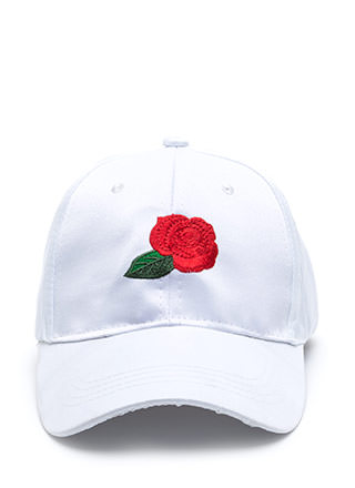 Wild Rose Satin Baseball Hat