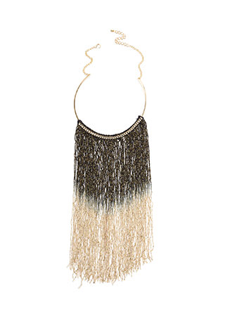 Good Ombre Fringe Collar Necklace